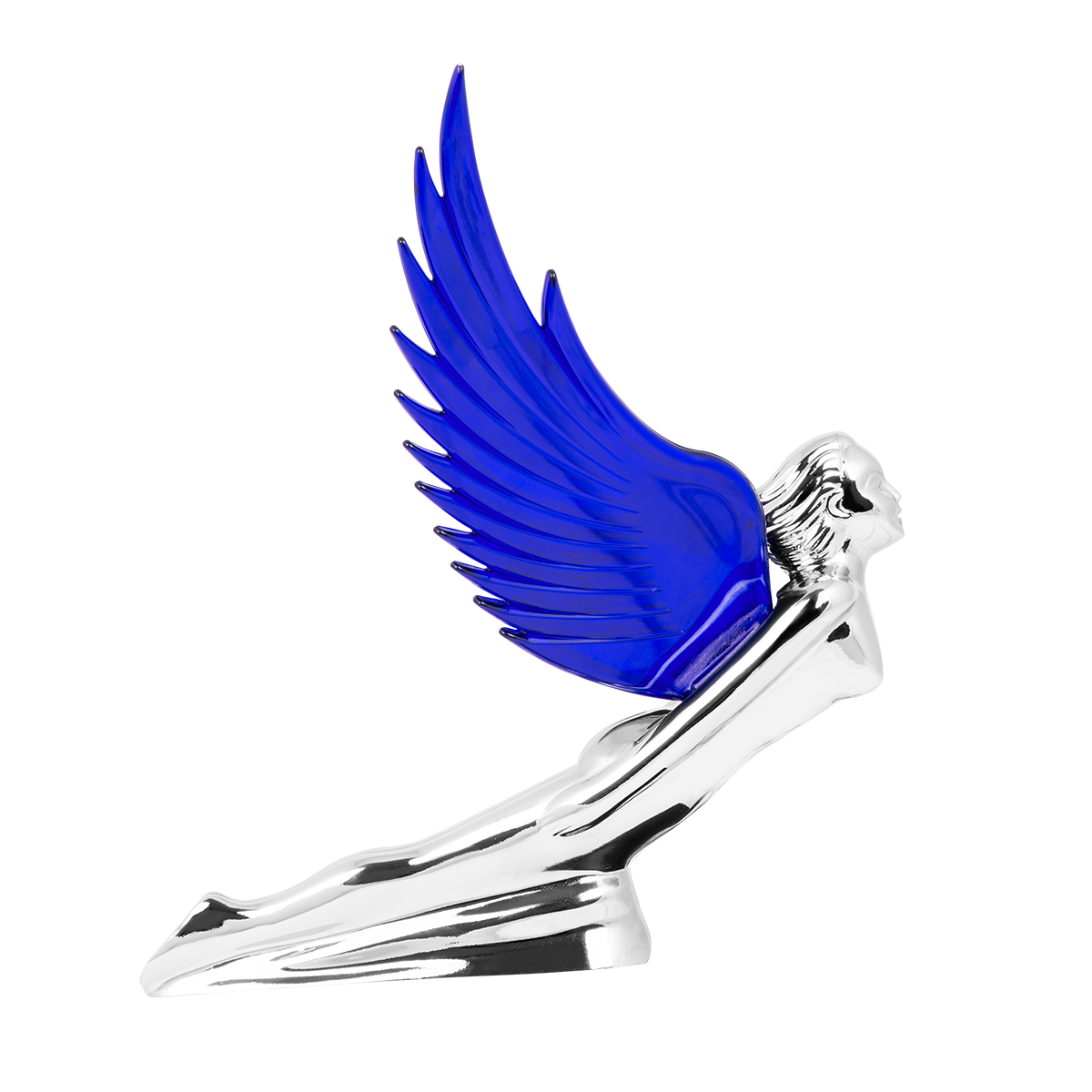 48107 WindRider Chrome Flying Goddess Hood Ornament