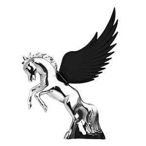 WindRider Chrome Fighting Stallion Hood Ornament