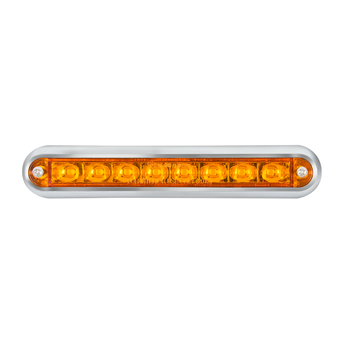 "74770 6.5"" Surface Mount Pearl Marker & Turn LED Light Bar"