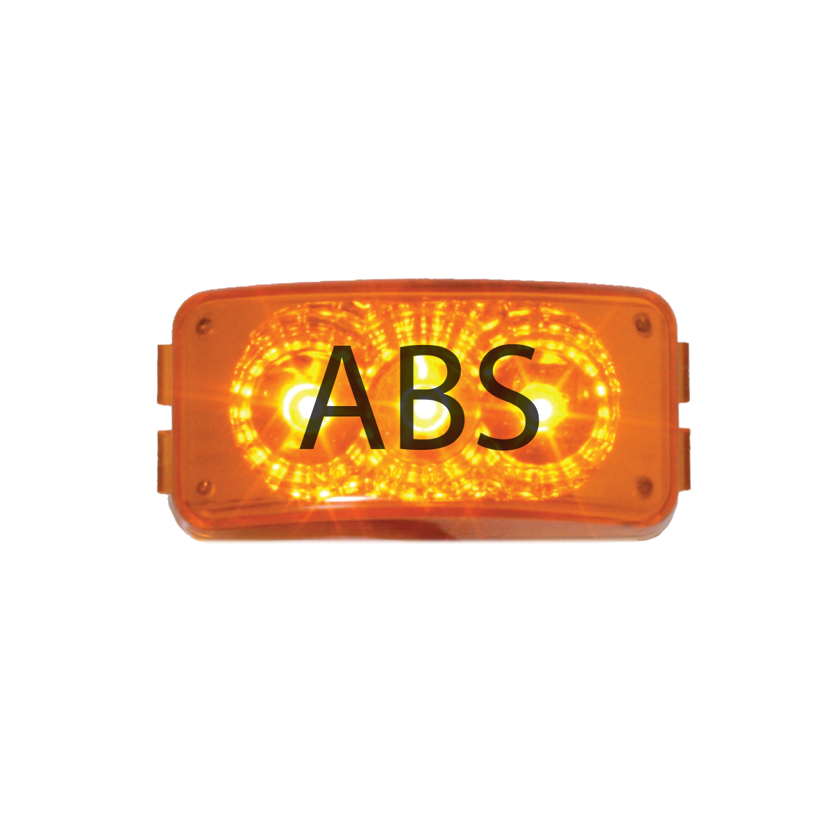 77954 ABS Logo Amber Small Rectangular LED Marker Lights