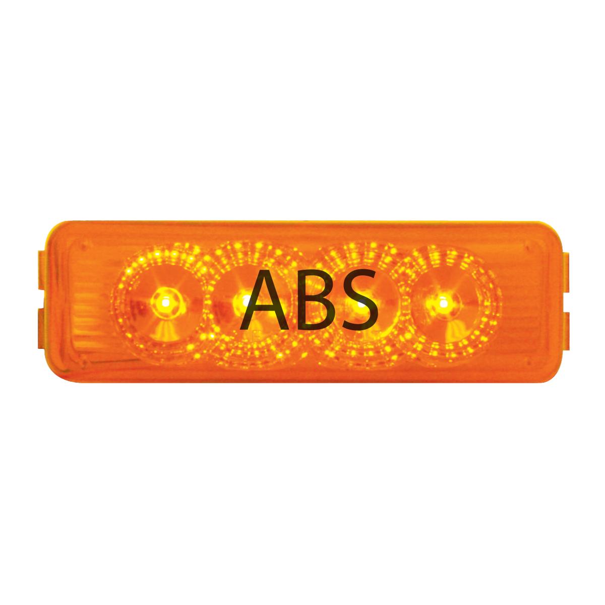 77964 ABS Logo Amber Medium Rectangular LED Marker Light