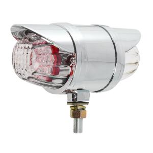 Double Face Glass Lens LED Pedestal Light