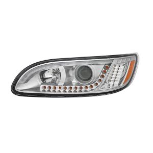 Peterbilt 386/387 Headlight with white high power LED position/daytime running and LED turn signal light