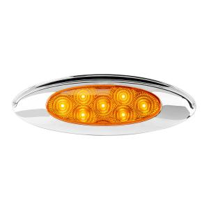 Ultra Thin Surface Mount Y2K LED Light with Chrome Bezel and Visor