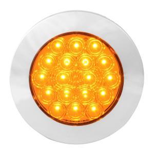 4″ Fleet Flat Surface Mount LED Light with Chrome Twist & Lock Bezel 3 Wires