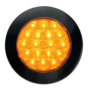 4″ Fleet Flat Surface Mount LED Light with Black Twist & Lock Bezel 3 Wires