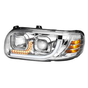 Peterbilt 388/389 Headlight with white high power LED position and turn signal light