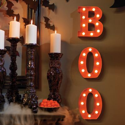 Battery Operated Quot Boo Quot Marquee Letters Grandin Road