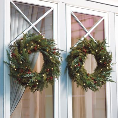 Outdoor Wreath Battery Christmas