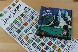 livre liu et l'oiseau avec son poster des signes chinois