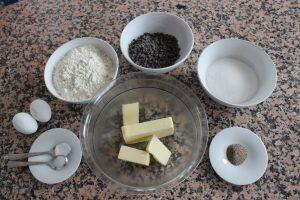 les ingrédients de la recette de cookies