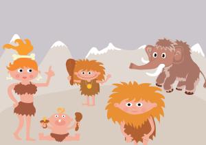 Des hommes du paléolithique