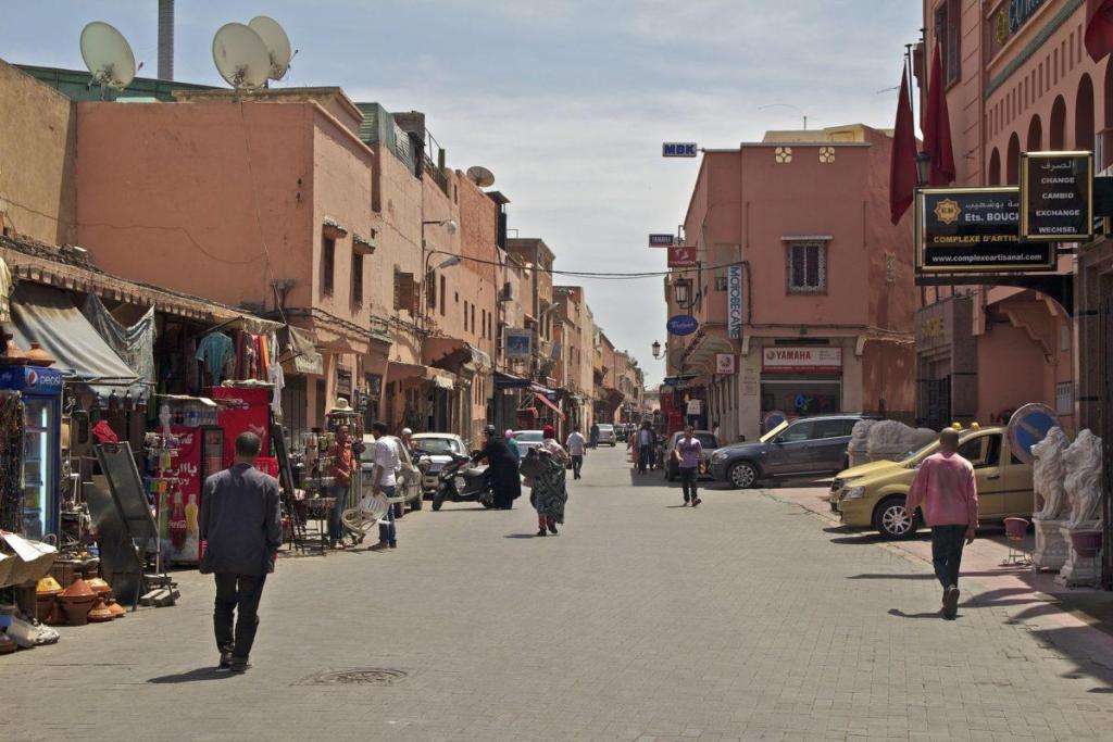 Quartier central de Marrakech