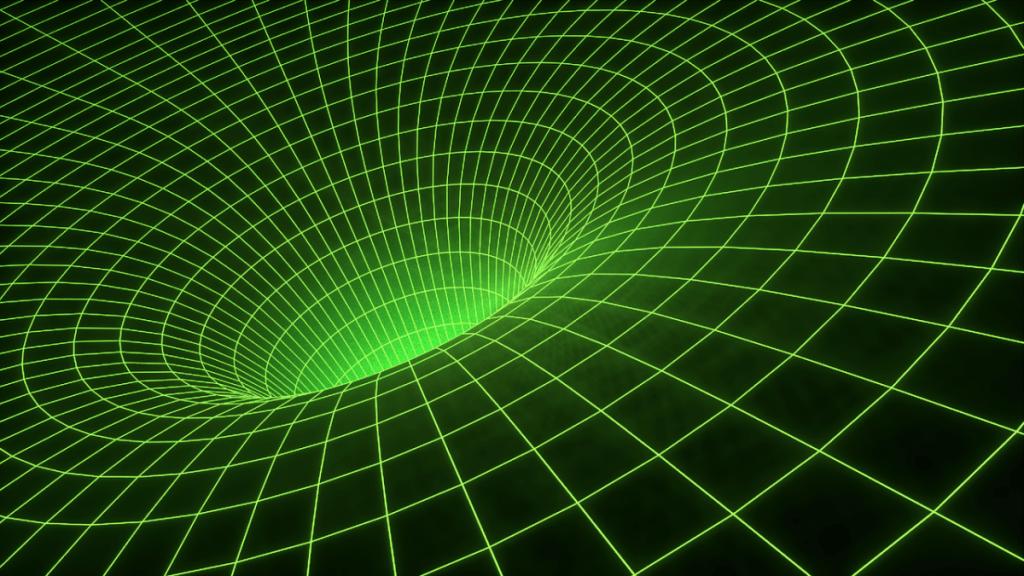 Un trou vert dans l'univers