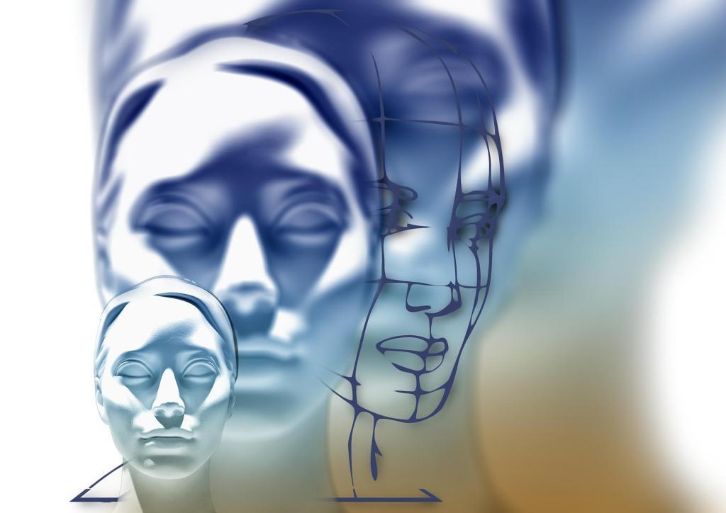 La construction du visage d'une femme