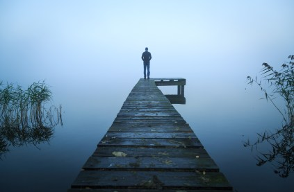 Alone on a jetty