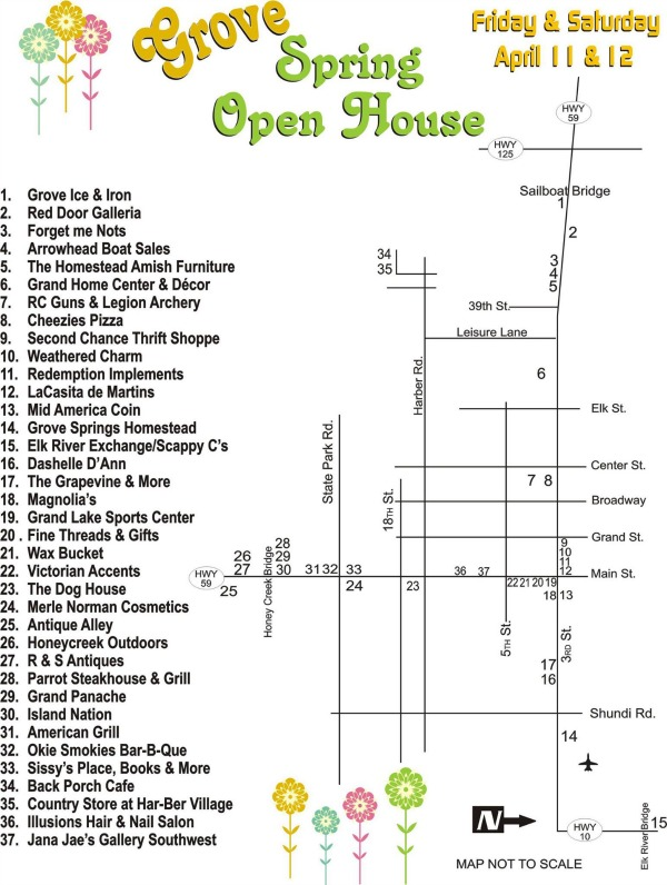 Grove Open House Map