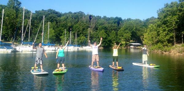 Paddleboarding at Grand Lake OK