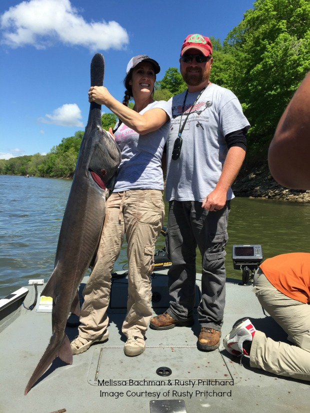 Melissa Bachman paddlefish in Oklahoma
