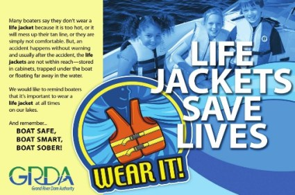 Life jackets at Grand Lake