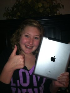 Congratulations, Jaden!  The Grand Lake Fireworks ipad2 winner!