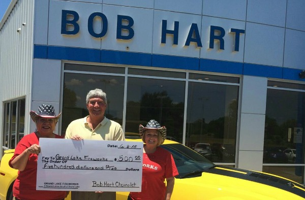 Bob Hart Fireworks Donation