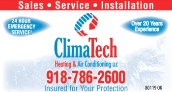 ClimaTech Heating and Air Conditioning Grand Lake Oklahoma