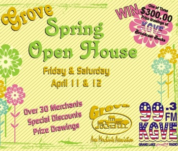 Spring Open House in Grove April 11th & 12th