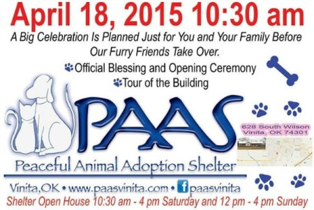 Peaceful Animal Adoption Shelter Vinita