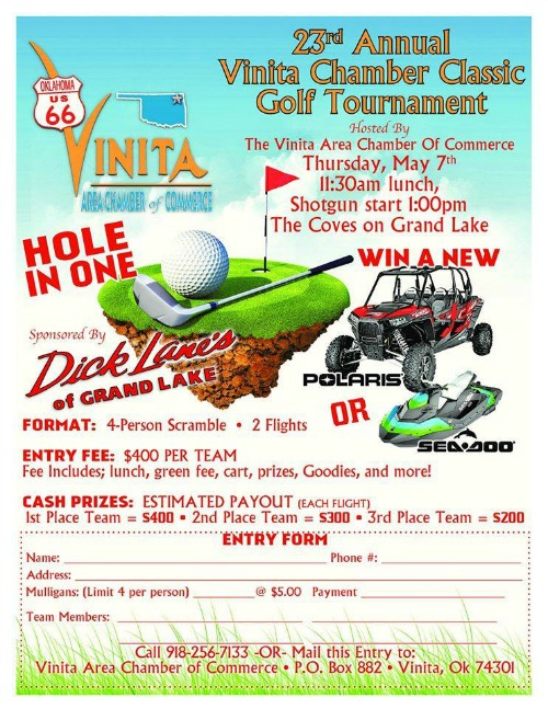 Vinita Ok Chamber Golf Tournament 2015
