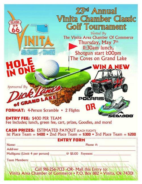 Vinita Ok Chamber Golf Tournament 2015