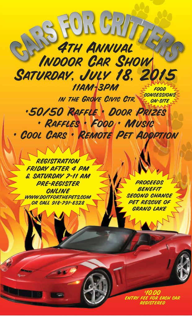 2015 Cars For Critters in Grove Oklahoma