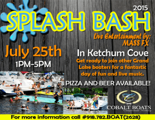 Splash bash in Ketchum Cove
