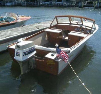 Classic Boats On Display At Grand Lake