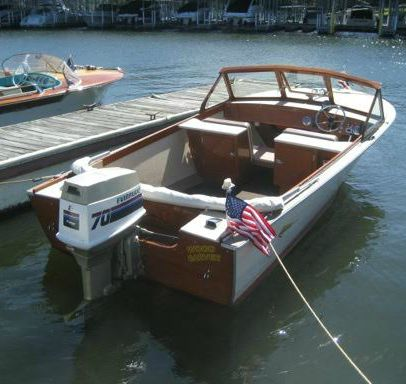 Classic Boats On Display At Grand Lake