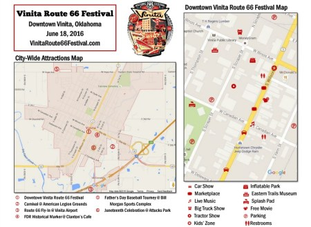 Vinita Route 66 Festival Map