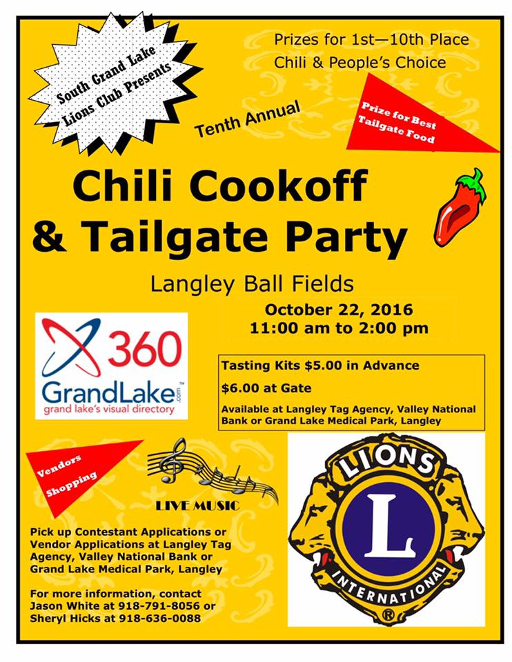 2016 Grand Lake Chili Cook0ff