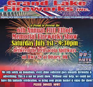 Grand Lake Fireworks 2017