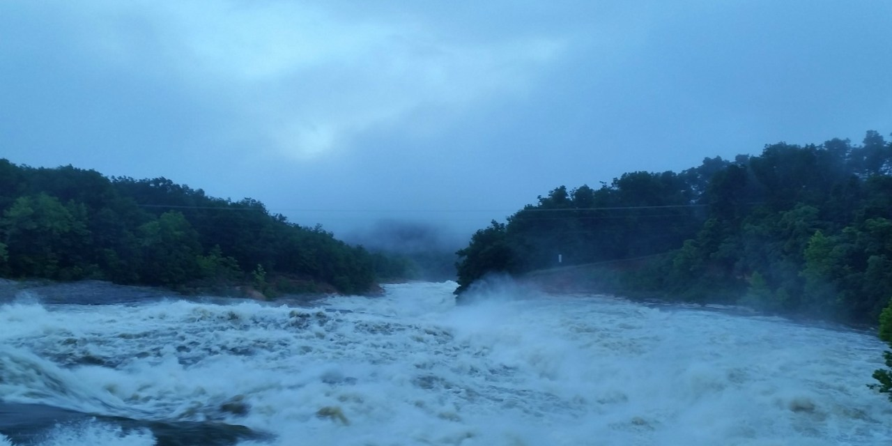 This is an image of th Fort Gibson Dam Saturday June18, 2011.