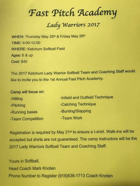 Ketchum Fast Pitch Camp