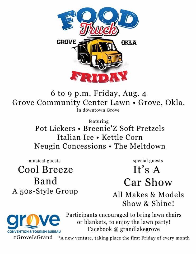 Food Truck Friday Grove OK Aug 2017