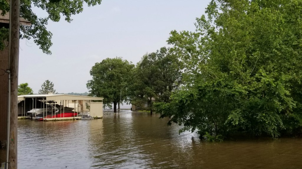 Grand Lake flooding waterfront property