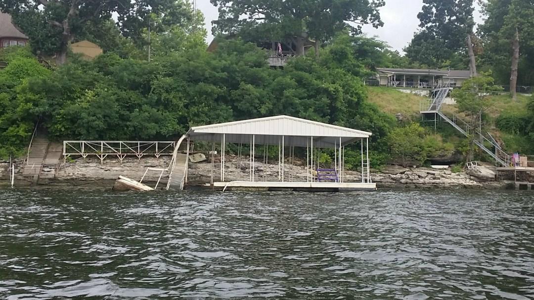 Grand Lake dock damage