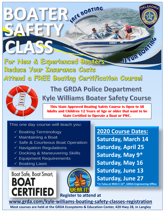 2020 GRDA Boater Safety Class