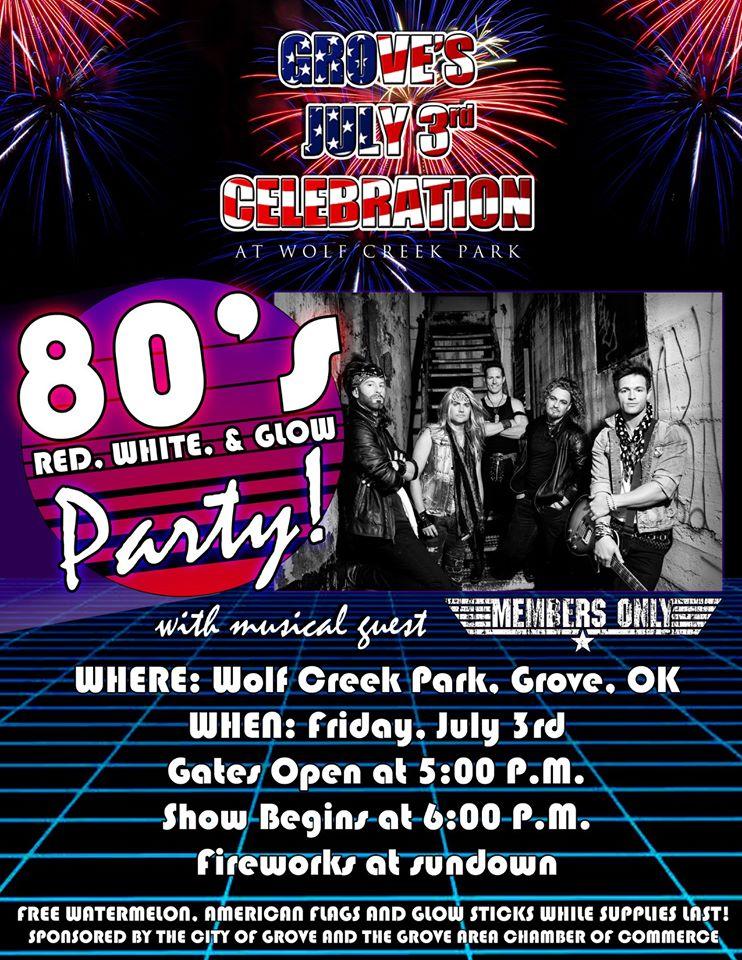 Grove July 3rd Celebration 2020