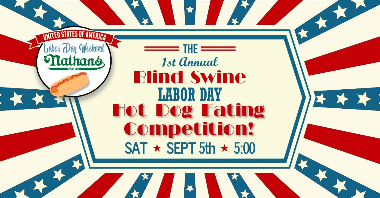 Blind Swine Hot Dog Eating Competition