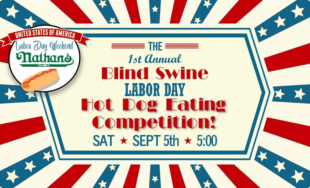 Hot Dog Eating Competition at The Blind Swine