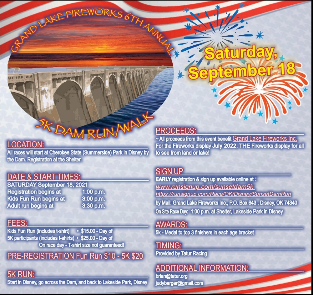 Grand Lake Fireworks 5K