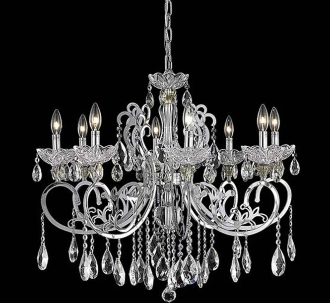 Aria Collection 8 Light Large Crystal Chandelier