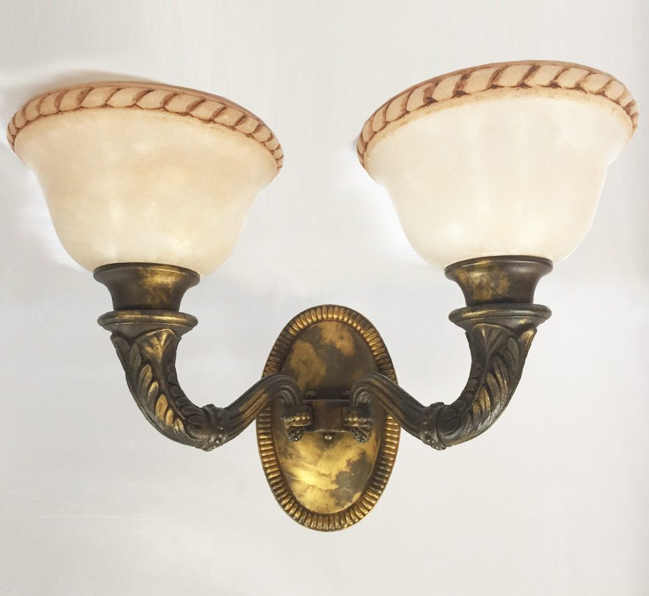 Wolcott 16″ W Large Vintage Wall Sconce | Grand Light on Vintage Wall Sconces id=60320